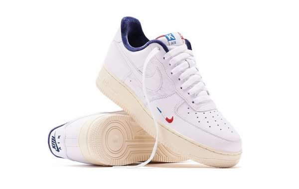 """I like the pair of Kith x Nike Air Force 1 """"France"""" CZ7927-100 shoes, how about you?"""