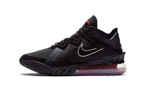 """Summer Color Nike LeBron 18 """"Black/University Red"""" CV7562-001 Shoes On Sale"""